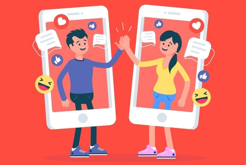 interação com usuarios de redes sociais
